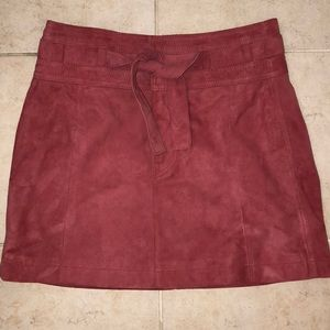 NWT Free People Suede Skirt